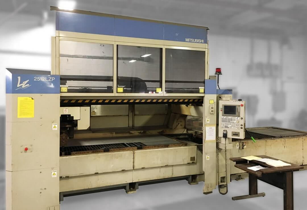 Mitsubishi 2512LZP Laser Cutting Table